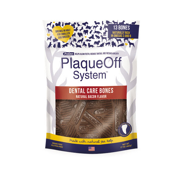 PlaqueOff Dental Care Bones Bacon 482g