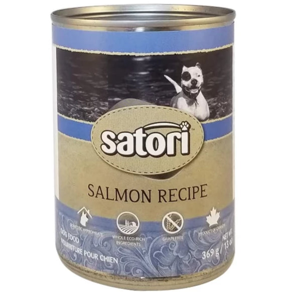 Satori 369g Salmon Canned Dog Food