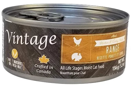 Vintage Range Chicken & Turkey Moist Cat Food