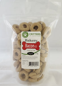 Critters Bakery 250g Bacon Organic Dog Biscuits