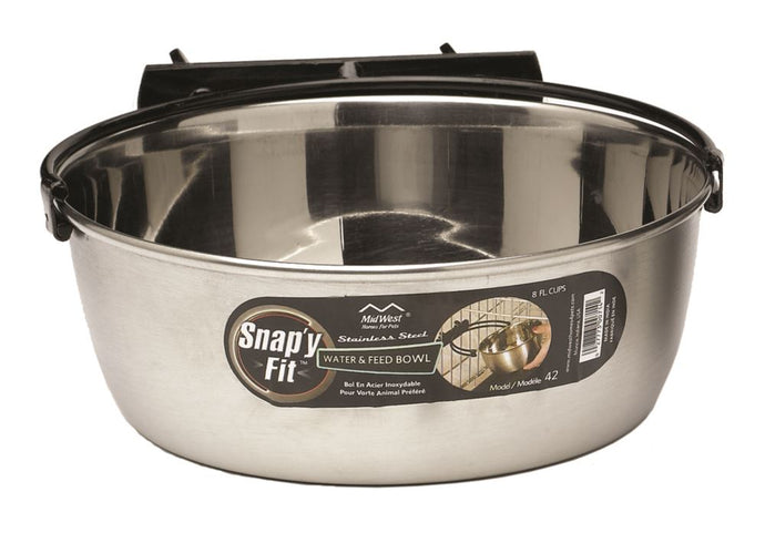 Midwest Snap'y Fit Stainless Steel Bowl