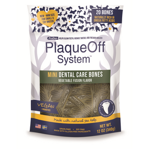 PlaqueOff Mini Dental Bones Vegetable 340g