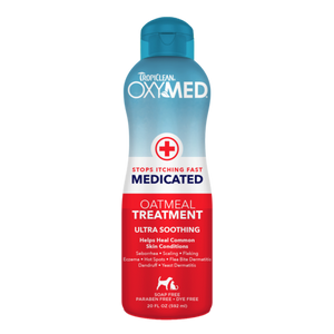 Tropiclean OxyMed Medicated Oatmeal Treatment 592ml Dog and Cat