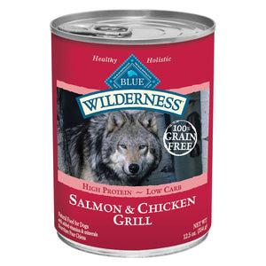 Blue Buffalo Wilderness Grain Free Salmon and Chicken Canned Dog Food