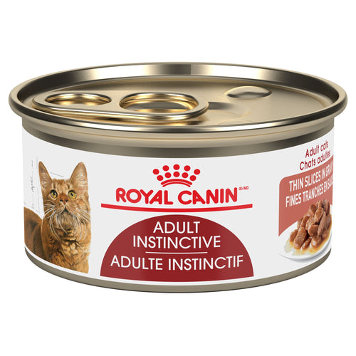 Royal Canin Feline Health Nutrition Instinctive Adult Thin Slices in Gravy Canned Cat Food