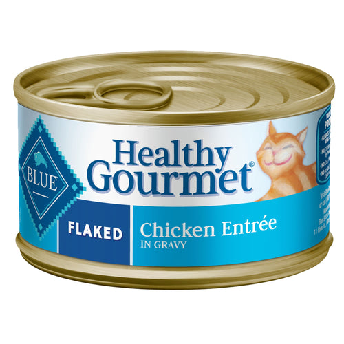 Blue Buffalo Healthy Gourmet Flaked Chicken in Gravy Adult Canned Cat Food