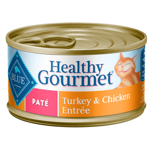Blue Buffalo Healthy Gourmet Turkey and Chicken Pate Adult Canned Cat Food