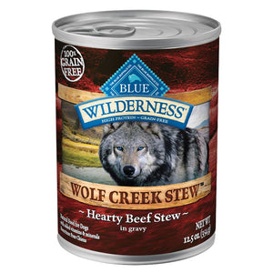 Blue Buffalo Wilderness Grain Free Wolf Creek Stews Beef Canned Dog Food