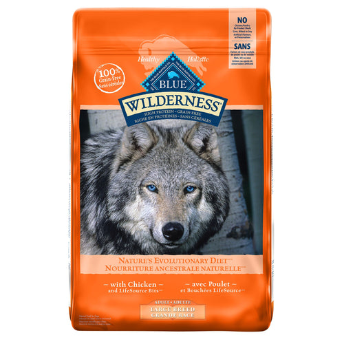 Blue Buffalo Wilderness Large Breed Adult Chicken 10.89kg Dog Food