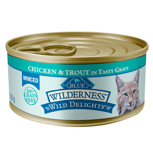 Blue Buffalo Wilderness Minced Adult Chicken and Trout Canned Cat Food