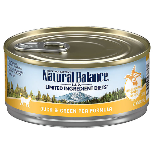 Natural Balance Limited Ingredient Diet 156g Duck Canned Cat Food