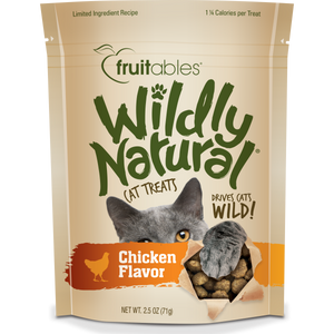 Fruitables Wildly Natural Chicken 71g Cat Treats