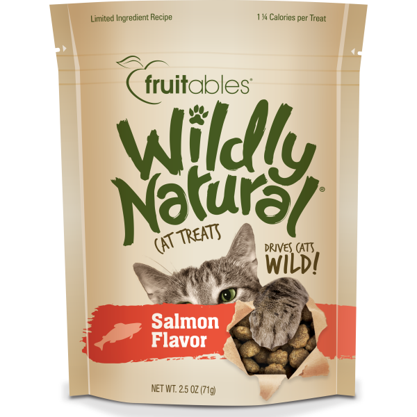 Fruitables Wildly Natural Salmon 71g Cat Treats