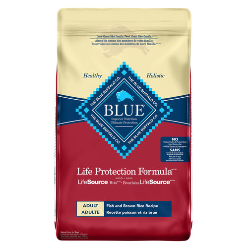Blue Buffalo Life Protection Formula Adult Fish and Brown Rice 11.8kg Dog Food