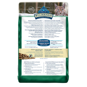 Blue Buffalo Wilderness Grain Free Adult Duck 4.99kg Cat Food