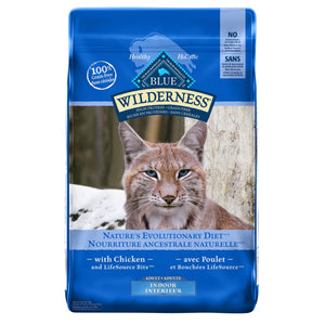 Blue Buffalo Wilderness Grain Free Indoor Adult Chicken Cat Food
