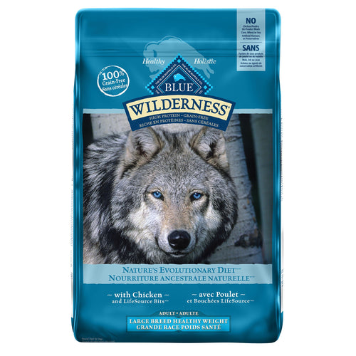 Blue Buffalo Wilderness Adult Large Breed Healthy Weight Chicken 10.89kg Dog Food