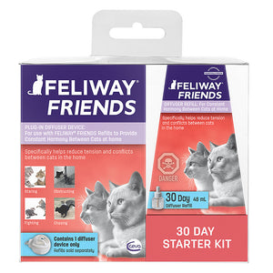 Feliway Friends Plug-In Calming Diffuser and Refill 30 Day Starter Kit 48ml for Cats