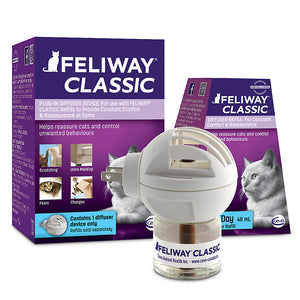 Feliway Classic Plug-In Calming Diffuser and Refill 30 Day Starter Kit 48ml for Cats