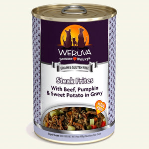 Weruva 400g Steak Frites Dog Food