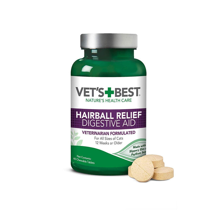 Vets Best Hairball Relief Tabs 60 Tablets