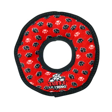 Tuffy Ultimate Rumble Ring Red Dog Toy