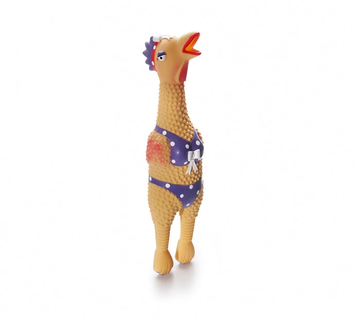 Charming Latex Chicken Henrietta Dog Toy