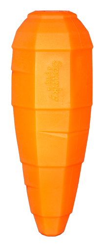 Spunky Treat Play Carrot Dog Toy