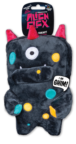 Spunky Alien Flex Plush Ghim Dog Toy