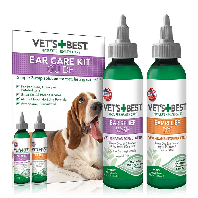 Vets Best Ear Relief Wash+Dry