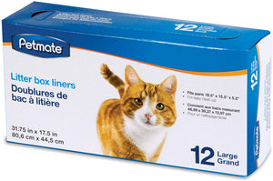 Petmate Pan Liners Large 12 Pack