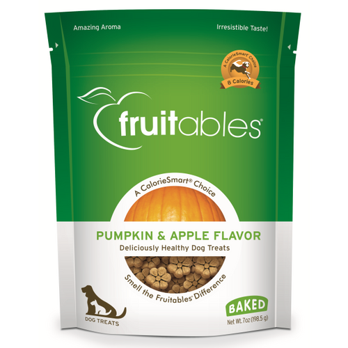Fruitables Crunchy Pumpkin and Apple 198g Dog Treats
