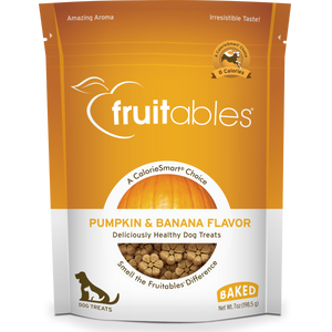 Fruitables Crunchy Pumpkin and Banana 198g Dog Treats