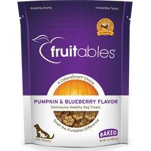 Load image into Gallery viewer, Fruitables Crunchy Pumpkin and Blueberry 198g Dog Treats