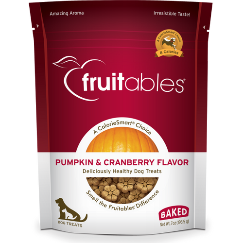 Fruitables Crunchy Pumpkin and Cranberry 198g Dog Treats