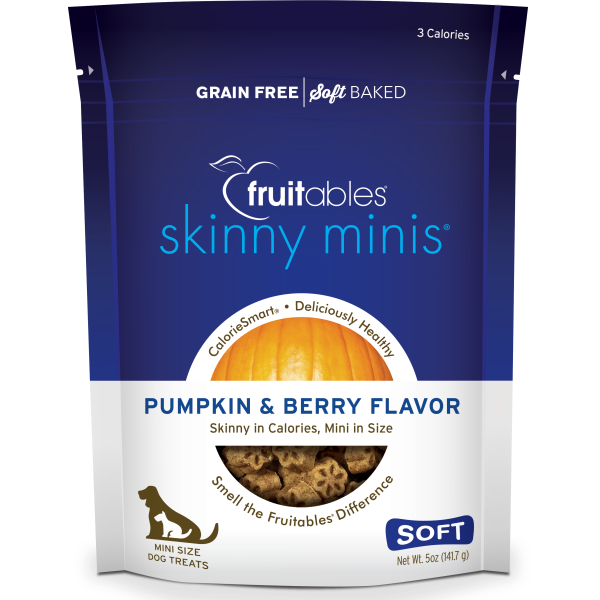 Fruitables Skinny Minis Pumpkin and Berry 141g Dog Treats