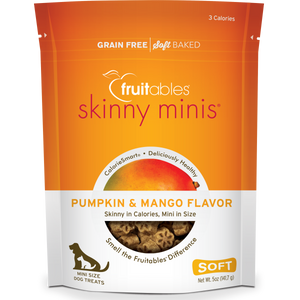 Fruitables Skinny Minis Pumpkin and Mango 141g Dog Treats