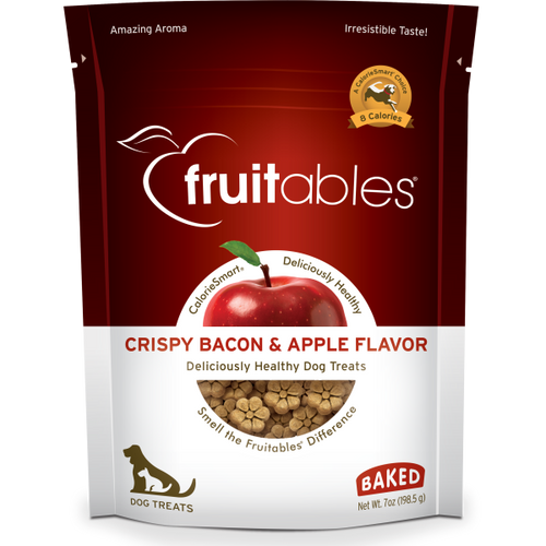 Fruitables Crunchy Bacon and Apple 198g Dog Treats