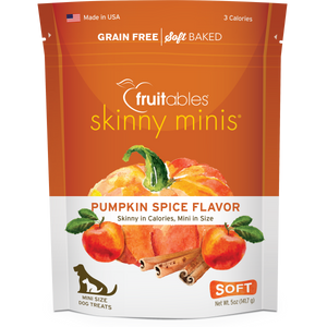 Fruitables Skinny Minis Pumpkin Spice 141g Dog Treats