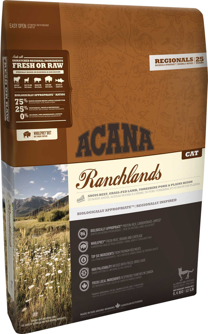 Acana Regional Ranchlands Cat Food - Manufacturer Discontinued