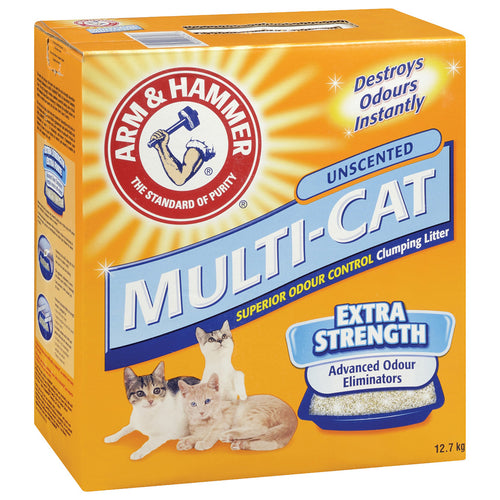 Arm and Hammer Multi-Cat Clumping Unscented 12.7KG Cat Litter
