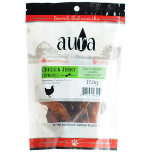 Aura Chicken Jerky 150g Dog Treats