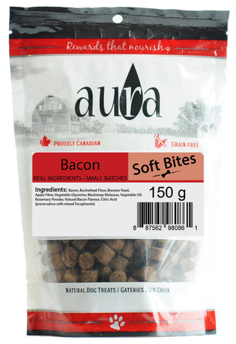 Aura Soft Bites Bacon Dog Treats