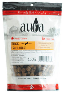 Aura Soft Bites Duck 150g Dog Treats