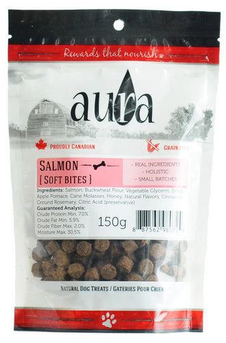 Aura Soft Bites Salmon 150g Dog Treats
