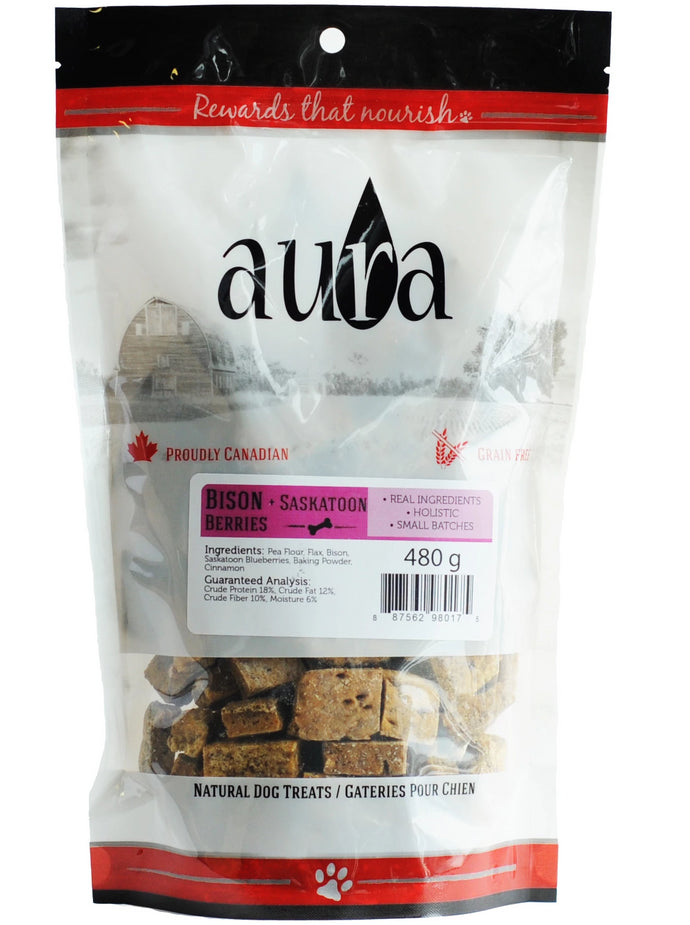 Aura Bakery Bison Regular Dog Biscuits