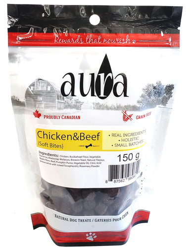 Aura Soft Bites Chicken and Beef Dog Treats