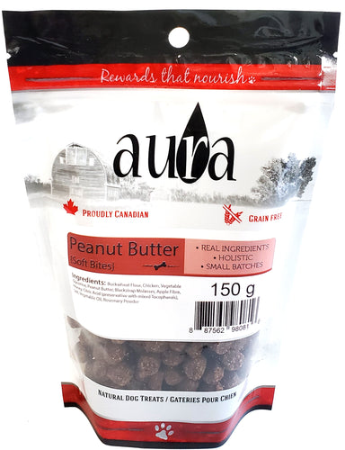Aura Soft Bites Peanut Butter Dog Treats