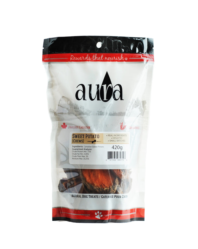Aura Sweet Potato Dog Chews