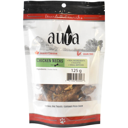Aura Chews 125g Chicken Necks Dog Treats